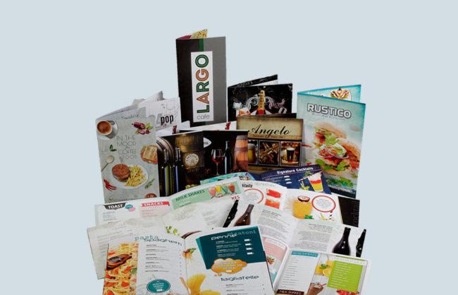 Restaurant, Snack bar and Cafeteria menus